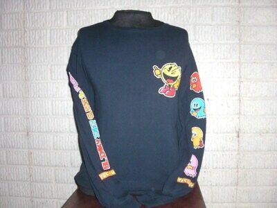 PAC MAN Atari long sleeve shirt t-shirt with Ghosts men's XL