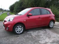 NISSAN MICRA 1.2 ACENTA 5d 79 BHP (red) 2014