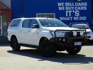 2015 Toyota Hilux GUN126R SR Double Cab White 6 Speed Sports Automatic Utility Welshpool Canning Area Preview
