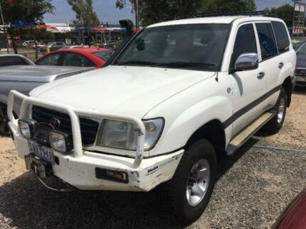 2000 Toyota Landcruiser FZJ105R GXL White Automatic Wagon Hoppers Crossing Wyndham Area Preview