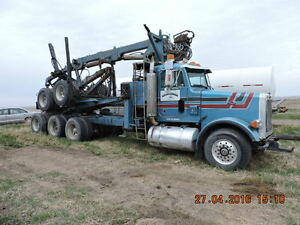 1993 PETERBILT SELF LOAD /ADVANCE LOADER