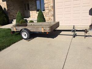 4' by 8' tilting utility trailer