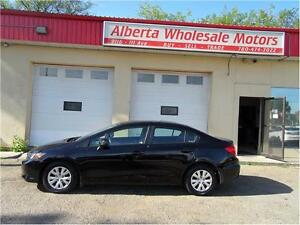 2012 Honda Civic Sdn LX  AUTOMATIC EASY FINANCE WE FINANCE ALL Edmonton Edmonton Area image 2