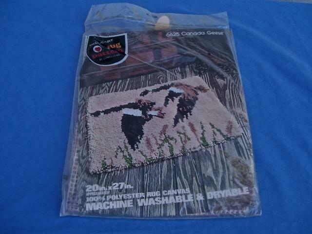 "RED HEART LATCH HOOK RUG PATTERN CANADA GEESE 20"" X 27"" NIP"