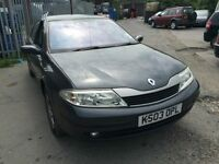 2003 Renault Laguna, starts and drives well, MOT until 6th August, low mileage of 65,000, car locate