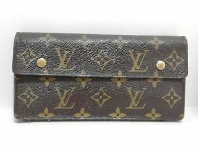 Auth LOUIS VUITTON Portefeuille Accordeon M58008 Monogram TH1025 Long Wallet