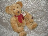 """17"""" SPECIAL VINTAGE RUSS HONEY BEAR,TAG,CERTIFICATE AUTHENTICITY"""