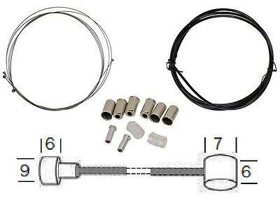 Bicicleta Universal Cable bowden Set para Frenos delantero y trasero