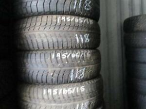 195/65 R15 MICHELIN X-ICE WINTER TIRES USED SNOW TIRES (SET OF 4 - $220.00) - APPROX. 85% TREAD