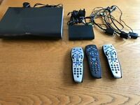 SKY HD Box, 3 Remotes, 3 Magic Eyes and SKY Wi Fi Box