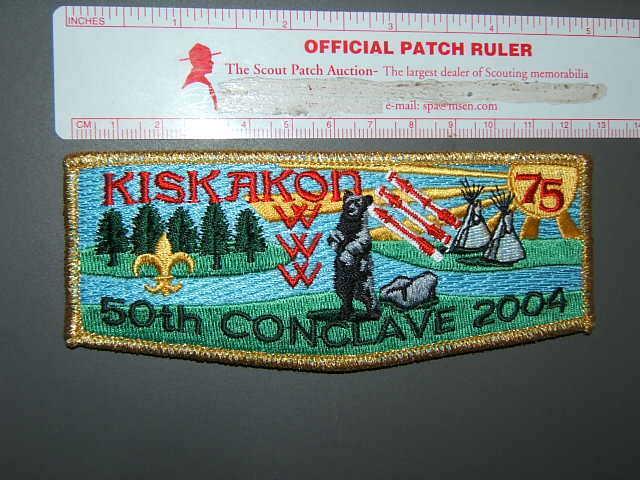 Boy Scout OA 75 Kiskakon flap 8527P
