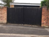 Pair of Timber Driveway Gates