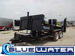 2016 3 Ton Dump Trailer 76 x 12!!  WITH COMBO GATE!!
