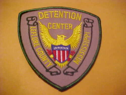 LEFLORE COUNTY MISSISSIPPI DETENTION CENTER POLICE PATCH SHOULDER SIZE UNUSED
