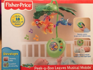 Fisher Price Peek-a-Boo Leaves Musical Mobile