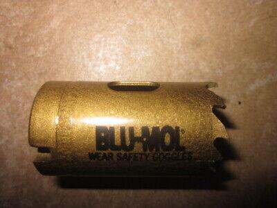 New BLU MOL Hole Saw C20 1-1/4 Inch Diameter CARBIDE Tipped 32MM BLU-MOL FREE SH