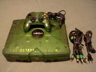 Original Xbox HALO Limited Edition Green Translucent Console! TESTED! NO CRACKS!