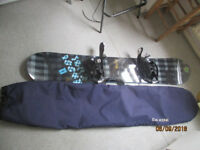 Snowboard boots and bag. used. Reduced £100 ovno