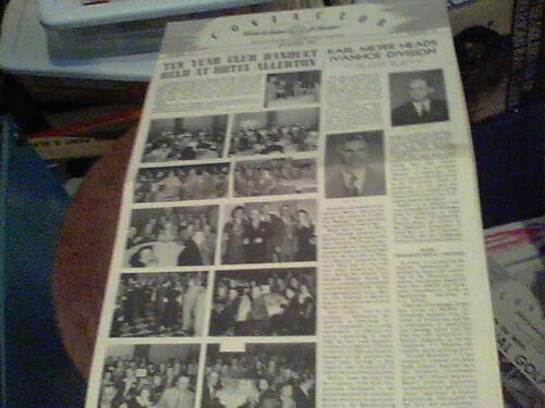 Nov 1951 Contactor Reliance Electric newsletter Ashtabula Karl Meyer, Dance REBA