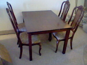 Sturdy Dining Table & 4 Chairs