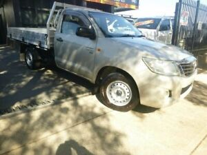 2012 Toyota Hilux GGN15R MY12 SR 4x2 Silver 5 Speed Automatic Cab Chassis Merrylands Parramatta Area Preview