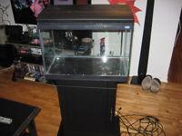 3 aquariums, accessoires et meubles 200$ nego.