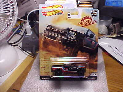 Hot Wheels Desert Rally '17 Ford F-150 Raptor with Real Riders