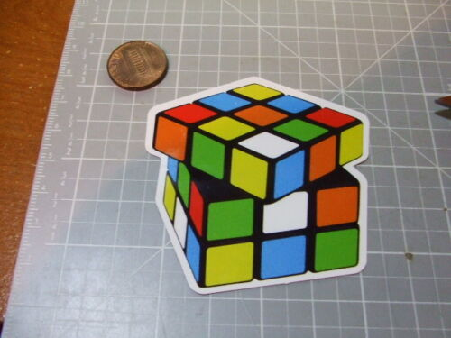 TURNED CUBE PUZZLE GLOSSY  Sticker Decal Bumper Stickers Actual Patterns NEW