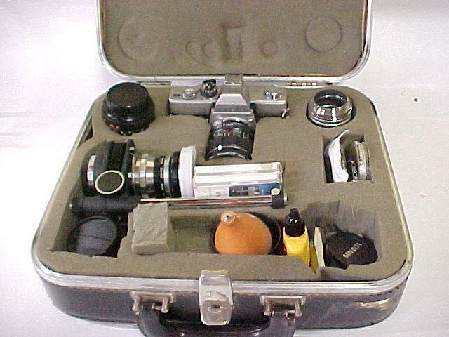 MINOLTA  SRT101 35mm Camera & Complete Outfit in Fitted Case + Many Extras  USED