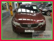 2010 Kia Cerato TD MY11 S Maroon 6 Speed Manual Sedan Condell Park Bankstown Area Preview