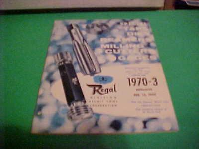 Vintage Original 1970 Regal Beloit Tool Corp. Catalog 1970-3 Taps -dies-reamers