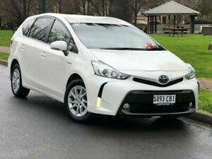 2018 Toyota Prius v ZVW40R White 1 Speed Constant Variable Wagon Hybrid Hillcrest Port Adelaide Area Preview