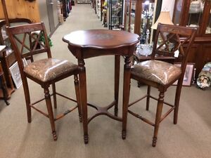 3pc High Table & Chairs