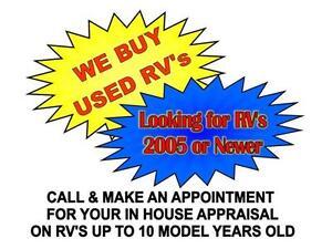 WE BUY USED RV's