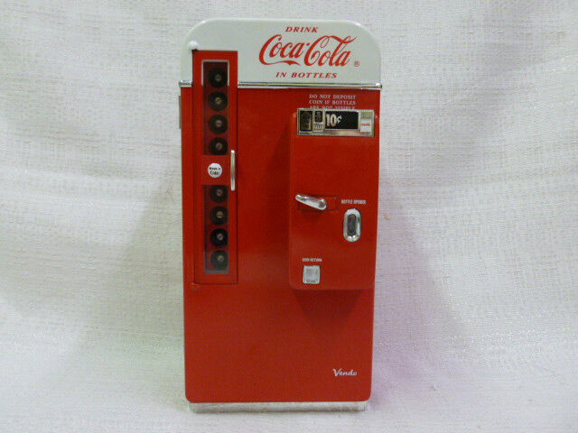 Coca Cola Collectible Die Cast Metal Musical Bank Plays Its The Real Thing