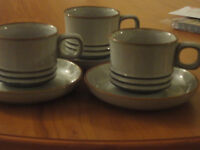 Denby Fjord cups / saucers