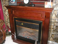 Excellent  A one Condition Cherrywood Electric  Fireplace