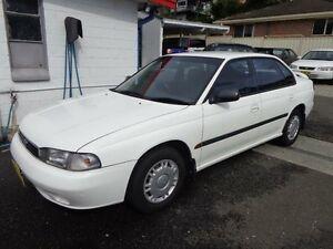 1996 Subaru Liberty LX White 5 Speed Manual Sedan Sylvania Sutherland Area Preview