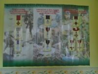 MEDALS FOR GALLANTRY AND DISTINGUISHED SERVICES WALL POSTER