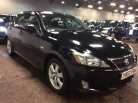 2007 LEXUS IS 220D 2.2 DIESEL MANUAL 175 SALOON EXCELLENT DRIVE BLACK LUXURY NOT 3 5 SERIES ACCORD 6