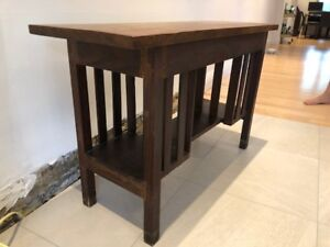 Oak arts and crafts style library table. Antique - great patina