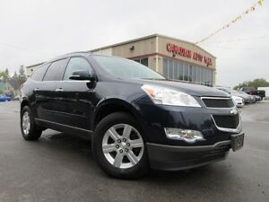 2012 Chevrolet Traverse 1LT AWD, 8 PASS, LOADED, ALLOYS, 80K!