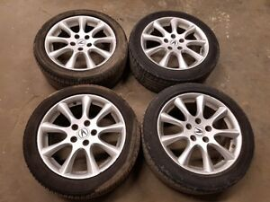 ACURA TSX TL WHEELS RIMS WITH TIRES 215/50/R17 TPMS