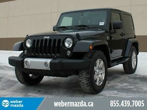 2015 Jeep Wrangler SAHARA 4X4 / MANUAL / LOW KM'S / NO FEES