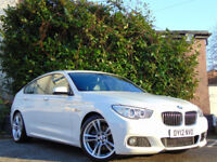 BMW 5 SERIES 3.0 530D M SPORT GRAN TURISMO 5d AUTO (white) 2012