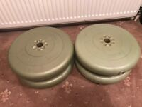 York 25LB (11.3kg) x 4 vinyl weights