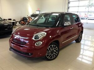 2015 FIAT 500L Lounge ROUGE CUIR GPS TOIT CAMERA RECUL