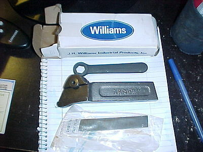 Nib Williams Th 31r Lathe Parting Tool Holder With Blade Wrench Cut Off Usa