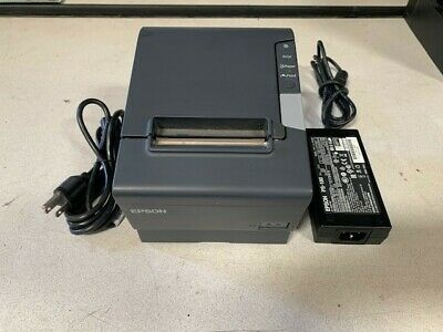 Epson Tm-t88v Pos Receipt Printer 9-pin Serial Usb Interface W Ps Ac Cable