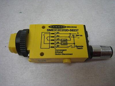 Banner SME3126C2QD-58237 Sensor, Convergent, 940 nm, 43 mm-FP, AMAT 1400-01336